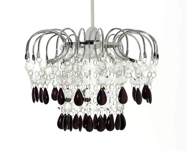 Chandelier Style Modern Ceiling Pendant Light Shade Acrylic Crystal Droplet Bead
