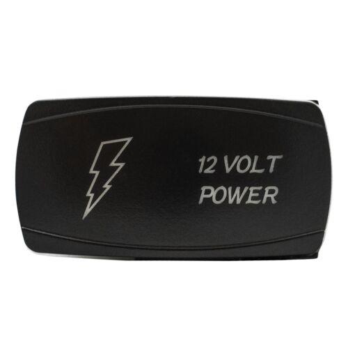 BLUE 12 VOLT POWER On//Off Horizontal Laser Rocker Switch 5 Pin Led 12V UTV