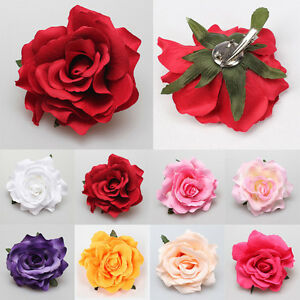 Colorful-Rose-Flower-Bridal-Hair-Clip-Hairpin-Brooch-Wedding-Party-Accessories