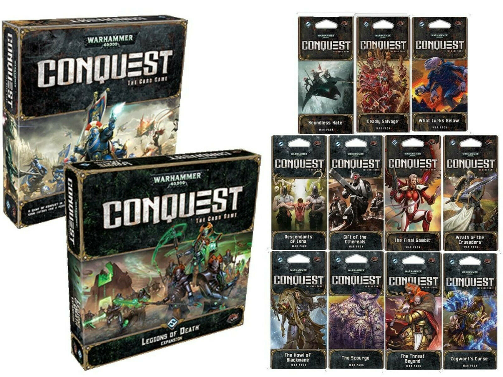 WARHAMMER 40k Conquest LCG Card Game Complete Collection Fantasy Flight Games