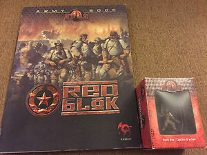 Miniatures, War Games At-43 At-43 Red Blok Army Book And Captain Vrachov Lot