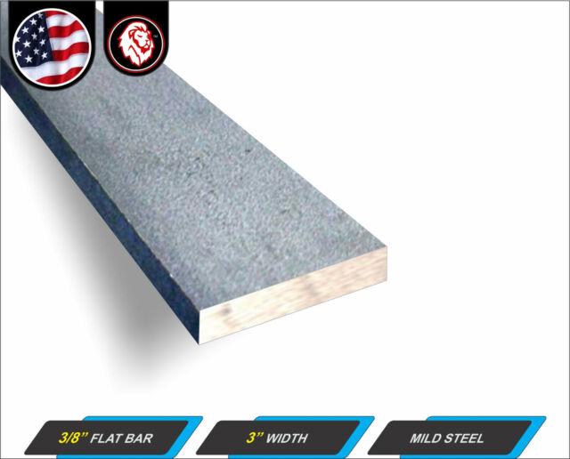 "4-ft Plain Finish 1//4/"" x 3/"" Steel Flat Bar 48/"" Long Metal Stock"