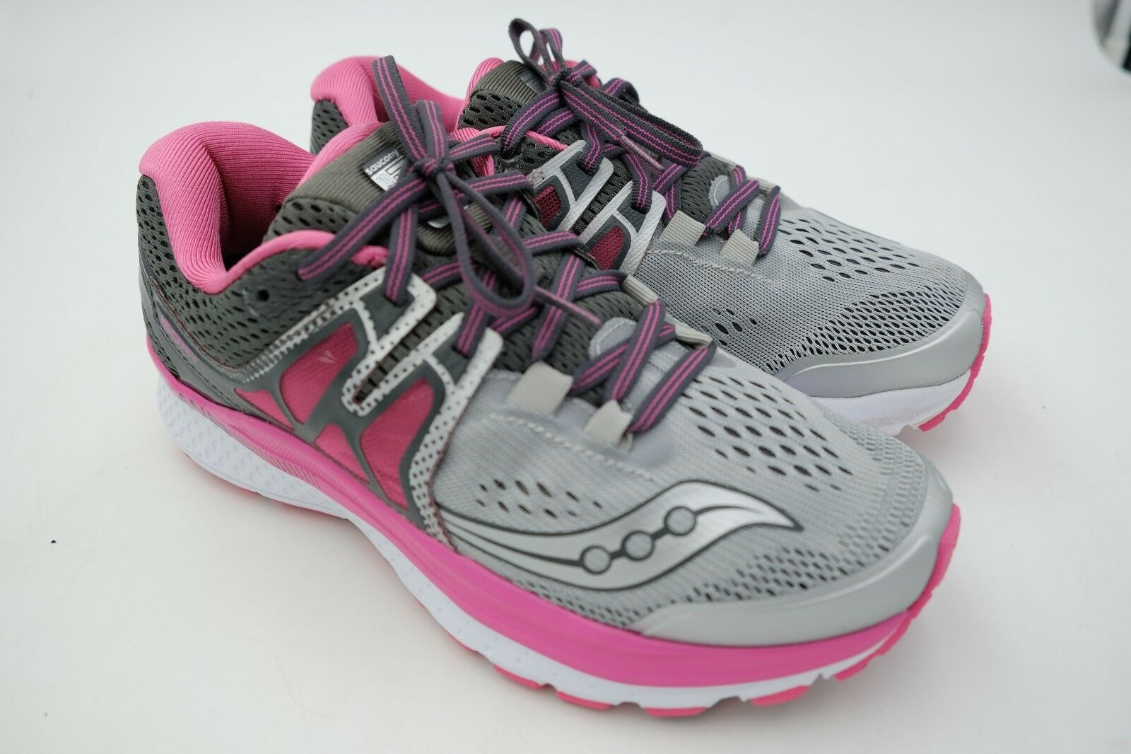 Saucony Hurricane ISO 3 Womens Grey Pink White Size 6.5 Used