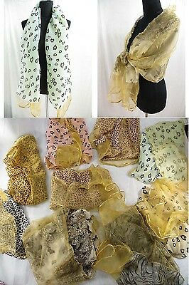 *US SELLER*wholesale lot of 5 double layer scarf shawls neck warmer