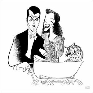 Al-Hirschfeld-039-s-BRINGING-UP-BABY-Hand-Signed-Limited-Edition-Lithograph