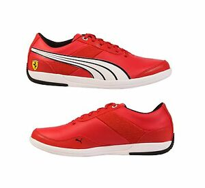 ... Puma-Ferrari-First-Lap-SF-Running-Red-Casual-Lace-Up-Sport-Sneakers
