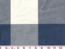 Large Blue Check by P Kaufmann Drapery Upholstery Fabric Buffalo Check Cadet