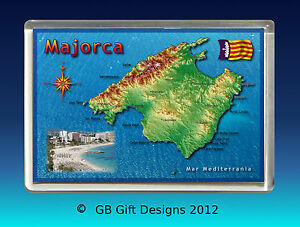 Majorca Map Spain Jumbo Fridge Magnet Holiday Souvenir Ebay