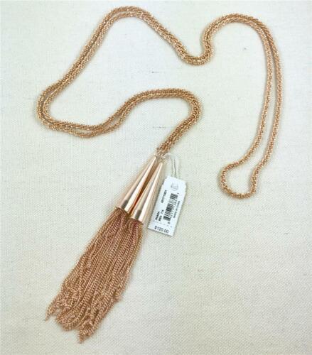 Kendra Scott Phara Lariat Rose Gold Tassel Necklace