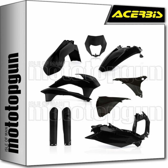 ACERBIS 0021811 FULL PLASTICS KIT BLACK KTM EXC 125 2016 16