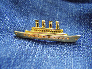 Pin Musical Titanic Broadway Musical 1997 White Star Linien goldfarben Aconda