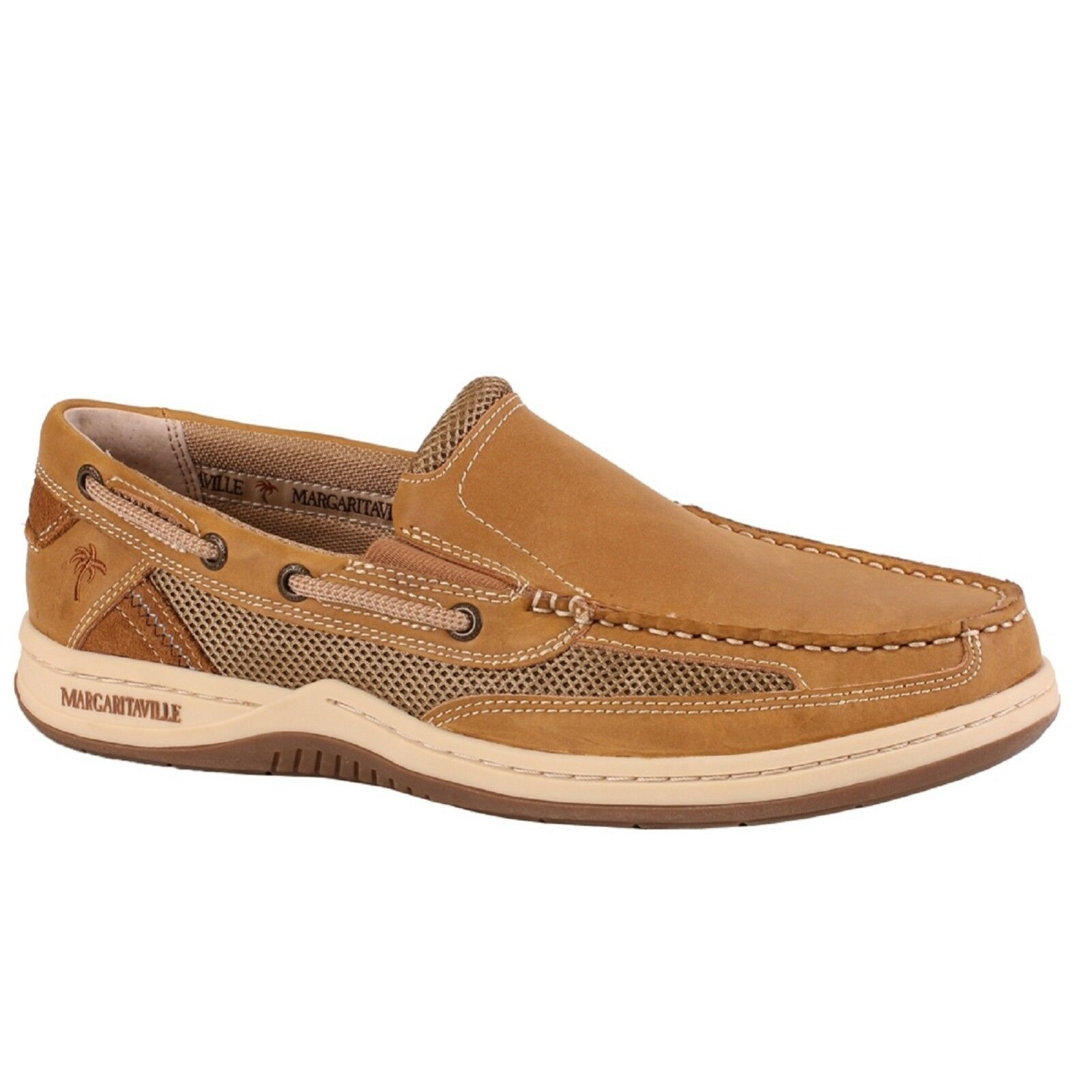 Men MARGARITAVILLE ANCHOR SO WIDE MFM181206 TAN Slip-On Oxford Boat shoes