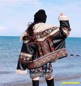 Fur Short Warm Traditional Real Wool Jacket Parka New Thicken Floral Womens Lamb I1Eqx7q6gw