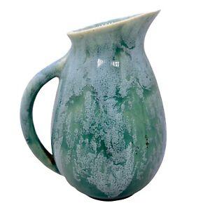 "McCoy Drip Glazed Pottery Pitcher Vase Vintage Mid Century Modern USA 90-10 6""H"