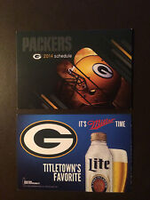 Green Bay Packers 2014 NFL pocket schedule - Miller Lite