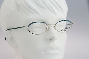 Robert Rudger 1690 222 F2 Vintage 90s blue & silver small slim oval eyeglasses