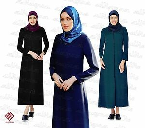 Women-Ladies-Full-Sleeve-Coat-Style-Abaya-Modest-Jilbab-Turkish-Ferace-AL6000