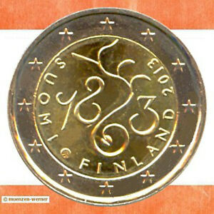 Sondermuenzen-Finnland-2-Euro-Muenze-2013-Parlament-Sondermuenze-zwei-Gedenkmuenze