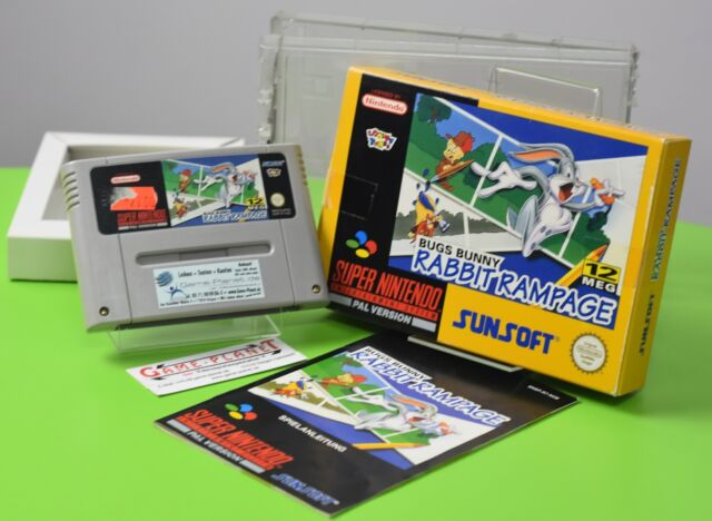 Bugs bunny rabbit rampage Super Nintendo SNES neuf dans sa boîte COLLECTION