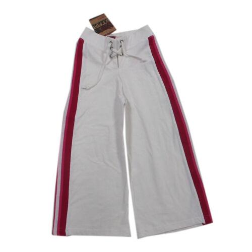 Teidem Girl Star Hosen lange Hose Jogginghose Baumwolle Weiß Mädchen Gr.110