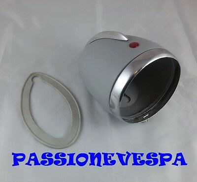 FANALE AL PARAFANGO PORTAFARO VESPA FARO BASSO 125 VM1T VM2T VN1T VN2T 105 mm.