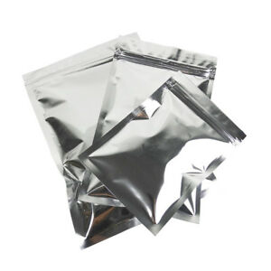 Heat Seal Silver Aluminum Foil Food Storage Bags Smell Proof