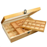 Ikee Design Natural Wood Two Level Display Box. 11''x 15 3/4'' x 3 1/4''. WD423
