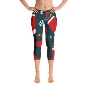 kerst legging voor Capri Dames voor kerst legging Dames YZOPPx