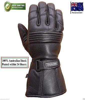 Motorcycle Winter Gloves Biker Rider Touring Warm Motorbike LEATHER GLOVES