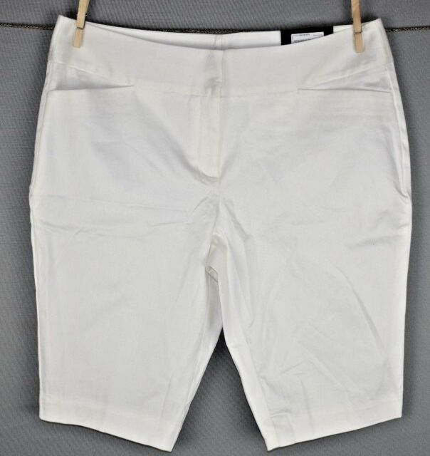 Worthington Women's White Modern Fit Slim Leg Bermuda Short Size 12 NEW
