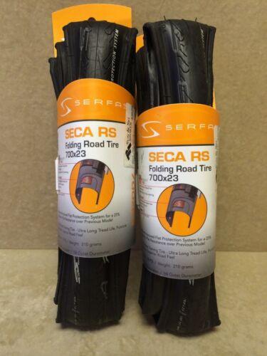BLACK TWO Serfas Seca RS 700x23 Folding Road Bicyle Tires DUAL DENSITY Tread