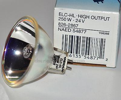 ★LAMPADA ELC-HL 24 V 250 W GX5.3 NAED x PROIETTORE 16 mm (Bauer,Eiki,Elmo)★