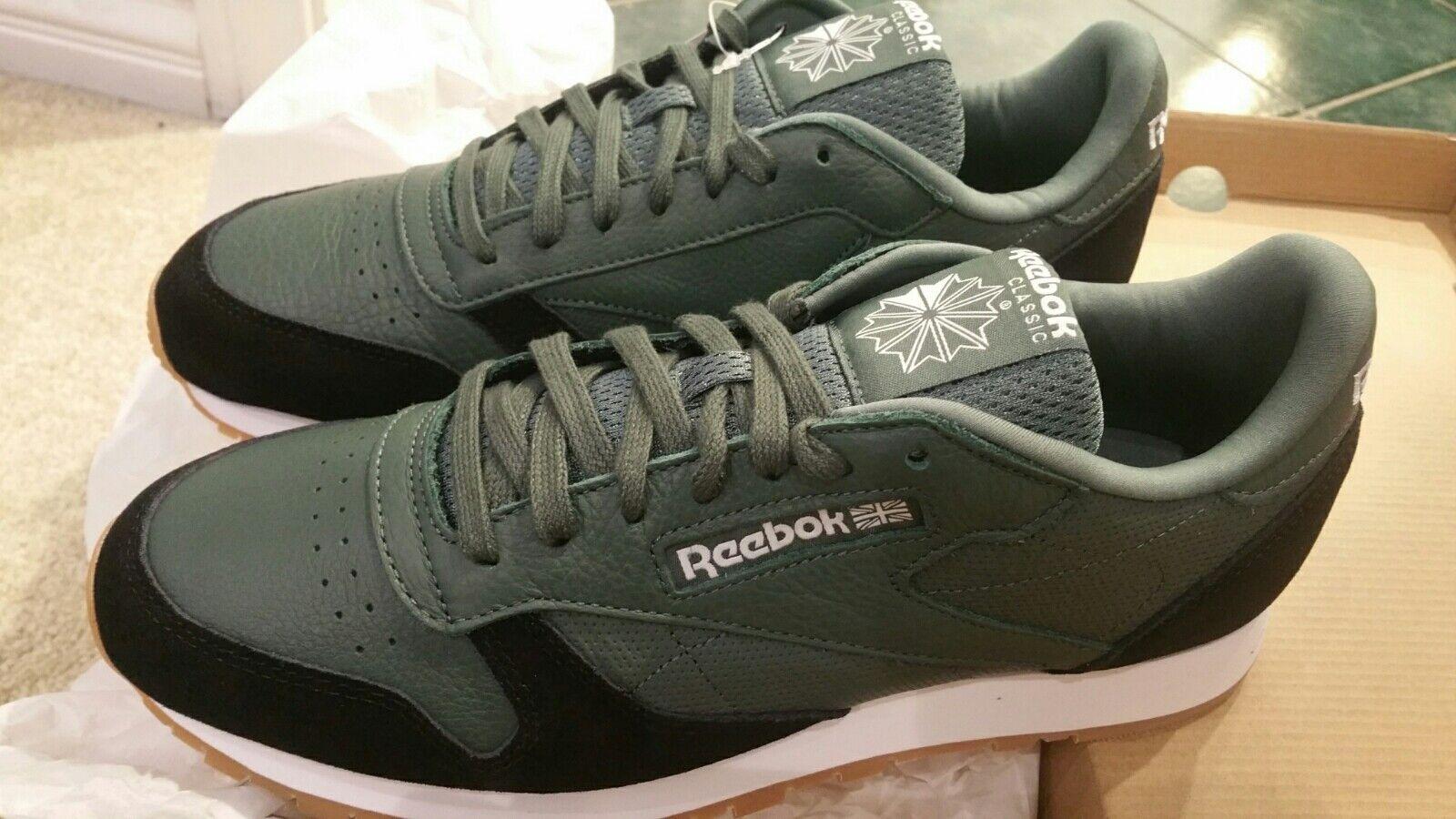 REEBOK Clásico Cuero Ondulación GI Para hombres Zapatos para Correr Zapatillas cómodos estilo de vida 10