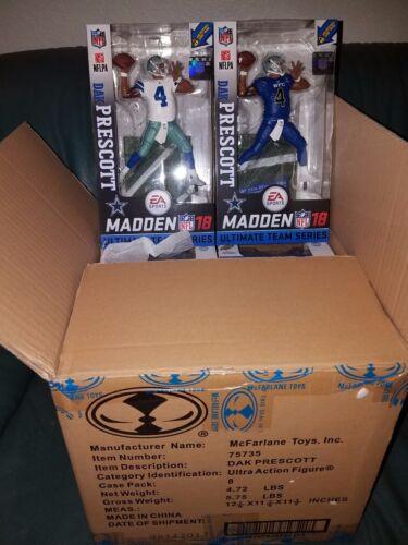 2 McFarlane 2018 Ultimate Madden Dak Prescott Dallas Cowboys 1 reg 1 chase