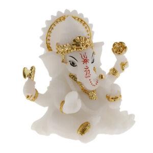 Stile Thai RESINA VINTAGE ELEPHANT STATUA PERSONAGGIO scultura Feng Shui nel Decorazione