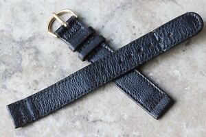 Long-old-type-1940s-textured-Moroccan-Leather-vintage-watch-band-16mm-USA-made