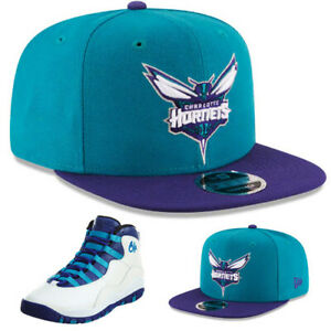 230922b2 New Era Charlotte Hornets Snapback Hat Match Air Jordan 10 Retro ...