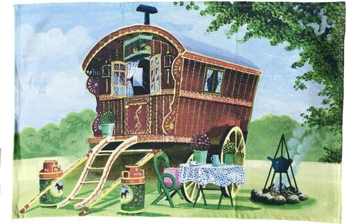 Romany Gypsy Caravan Torchon-Gypsy Tea Serviette-N4-TT