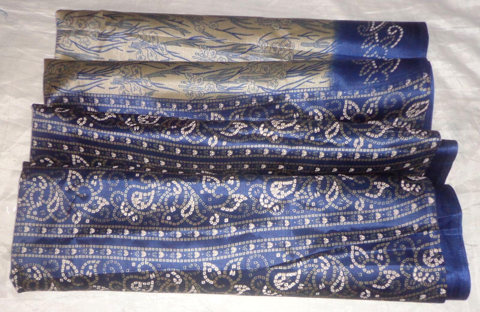 WEARABLE Vintage PAPER ART Silk BLEND CRISP Sari Saree PS4 Coffee S301