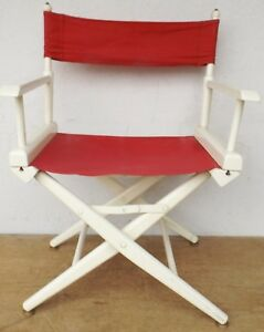 1 Elegant Appearance Confident Old Theatre/folding Chair/director's Chair 60/70er Vintage Rockabilly No Antiques