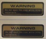 SUZUKI XN85 TURBO WARNING CAUTION RESTORATION WARNING DECALS X 2
