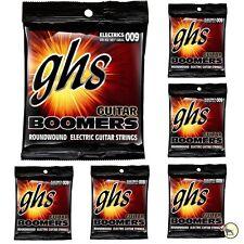 6-Pack GHS Electric Boomers GBXL Extra Light Nickel Steel Guitar Strings (9-42)