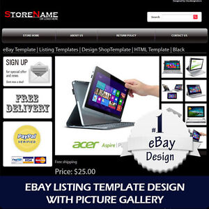 Ebay template listing templates design html template 6 color ebay for Free ebay templates html