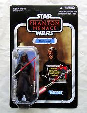 Star Wars Darth Maul action figure Phantom Menace vintage card VC86 Hasbro black