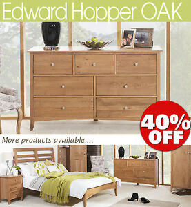 EDWARD-HOPPER-Oak-Furniture-bedside-table-chest-of-drawers-wardrobe-ASSEMBLED