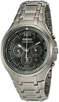 Seiko Ssc453p9 Solar Chronograph Wr100m Dark Grey Ion-plated Date Rrp £299.00