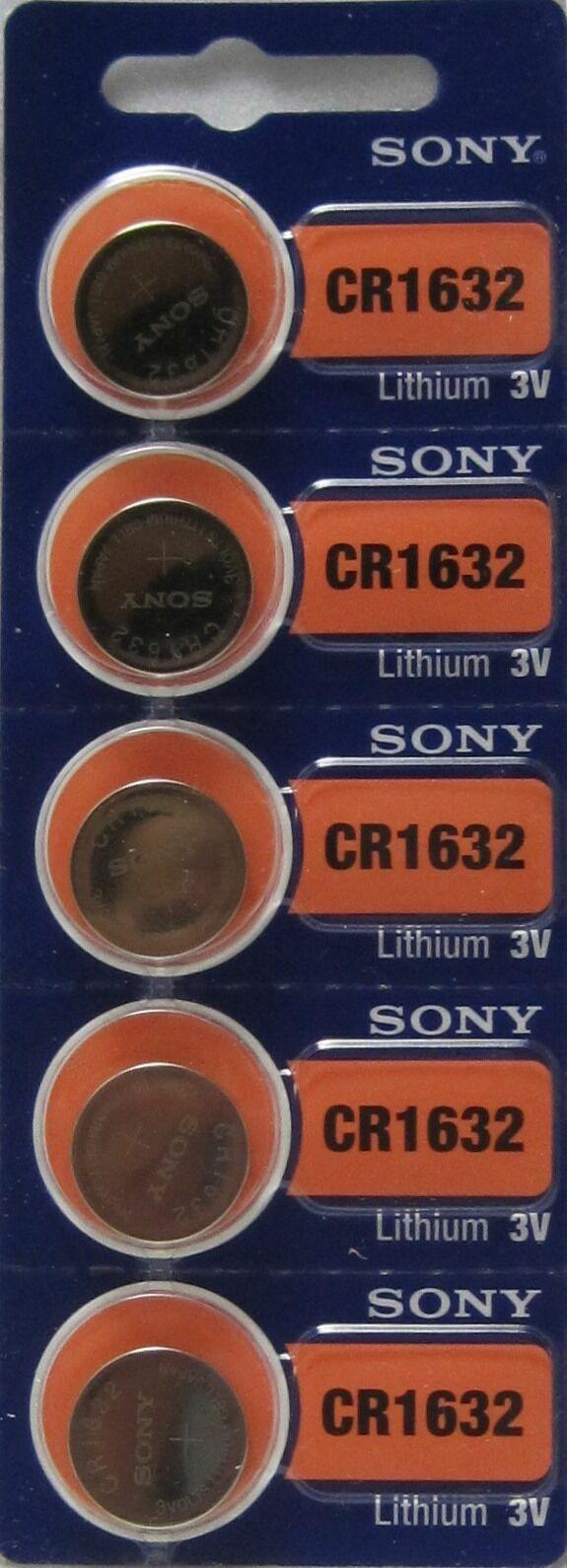 2 pieces CR1632 1632 DL1632 Sony Card 3V High Energy Lithium Battery