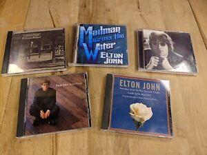 (5) Elton John CD Album lot | Greatest Hits Love Songs Madman Across The Water