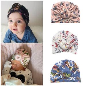 26817866e02bd Details about 1PC Baby Hat Newborn Elastic Cotton Baby Beanie Cap Infant  Turban Hats Hot