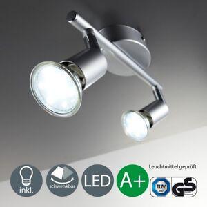 LED Deckenleuchte Spot-Leiste Strahler Wand-Lampe 2-flammig GU10 Wohnzimmerlicht
